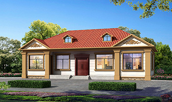 农村自建房设计图,一层小别墅,只需15万就能建