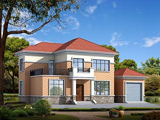农村别墅设计图,二层欧式小别墅,简约朴素实用!