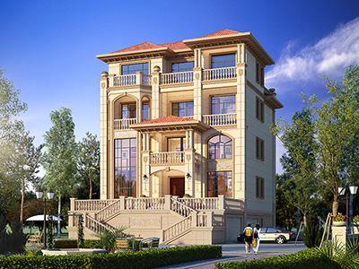 别墅设计图及效果图,带地下室和大车库。