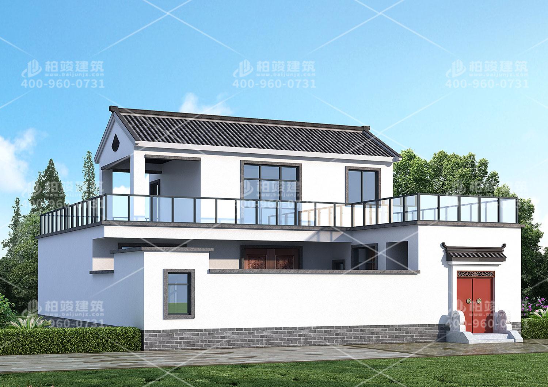 二层房屋设计图,中式风格设计