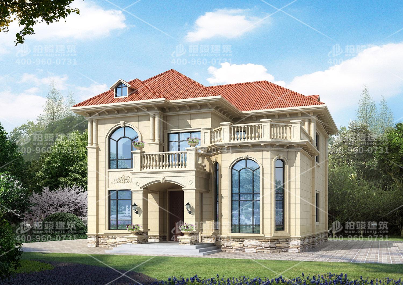 农村五间三层别墅设计图,内部布局实用