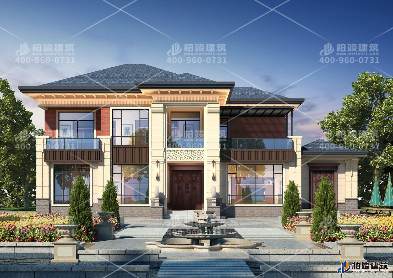 二层大空间别墅设计,带大露台大气时尚。