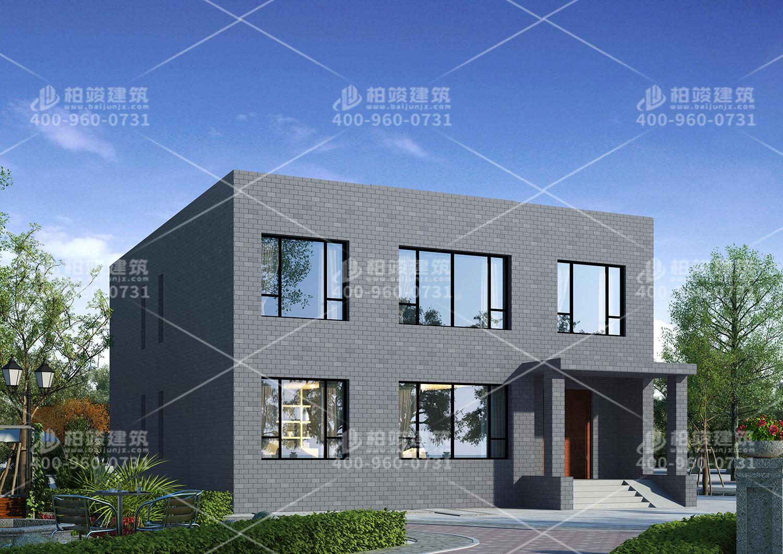 二层豪华别墅设计,平房顶设计。