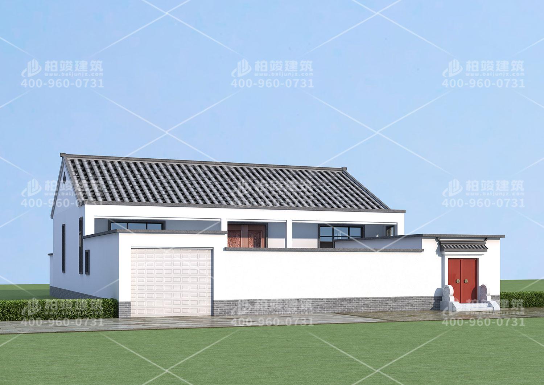 中式别墅设计图,带院子和地下室。