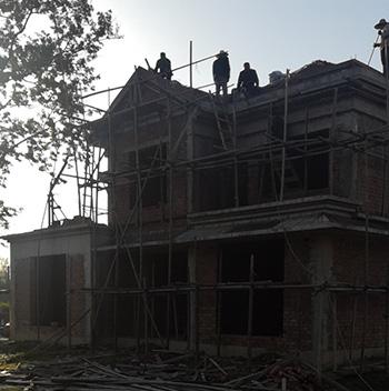 农村二层别墅欧式自建房豪华施工案例