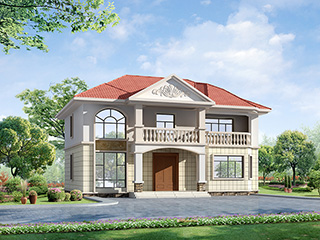 二层别墅欧式自建房设计案例