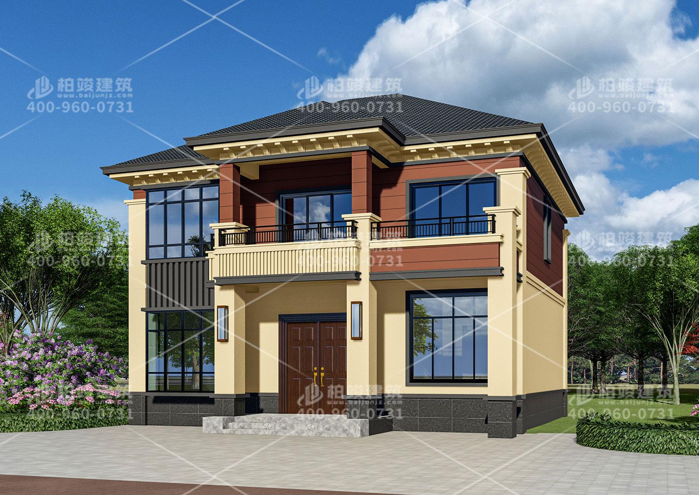河南赵总中式二层建筑设计