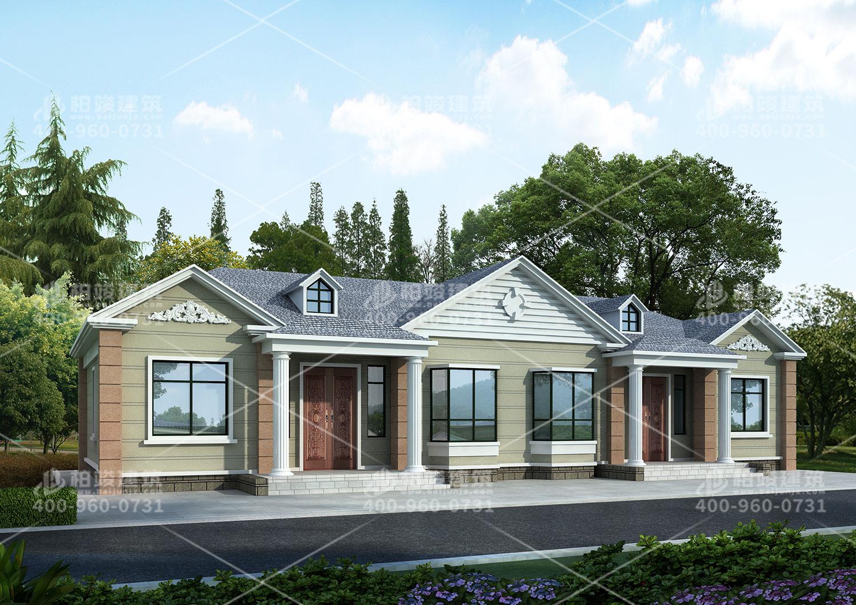 湖北余总定制一层双拼大别墅设计