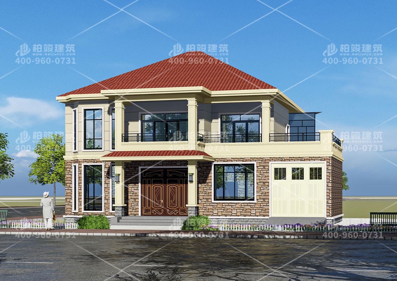 怀化贺总定制二层坡屋顶别墅设计