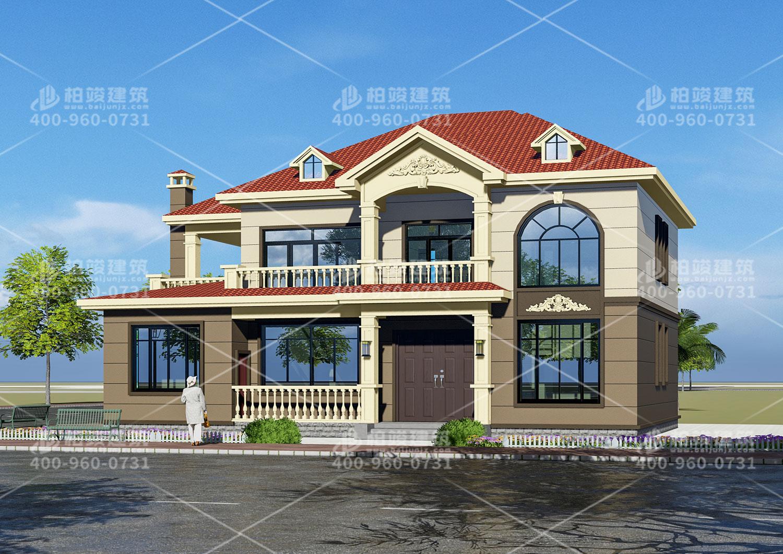 江苏丁总定制二层欧式带凉亭别墅设计