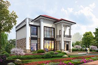 农村二层实用小别墅设计图纸BZ236-新中式风格