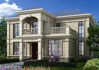 农村二层小别墅,简欧风格实用美观别墅设计图