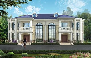 农村二层别墅欧式自建房豪华设计图纸全套
