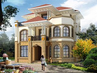 漂亮的三层简欧别墅设计图纸施工图及效果图 11X10米