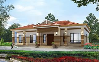 简单一层欧式农村别墅设计图纸_农村平房设计图