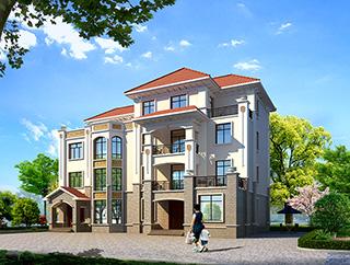 四层别墅欧式风格施工效果图纸全套 造价60万
