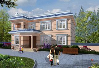 农村二层简欧别墅设计施工图及效果图 20X12米BZ264-简欧风格