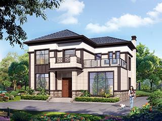 农村新中式别墅设计图 12X10米