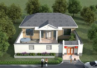 最新款农村一层简欧风格别墅设计图纸