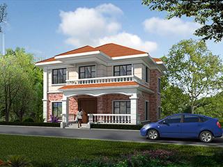 二层简欧风格农村小别墅设计图纸BZ261-简欧风格