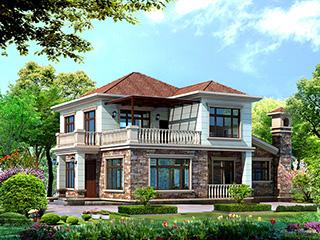 乡村二层小别墅设计图纸 造价30万