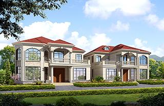 二层私人别墅设计图纸及效果图大全 造价25万