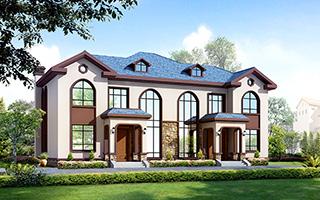 二层双拼简约复式兄弟别墅设计图,非常适合农村俩兄弟