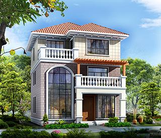 2020款占地农村100平米 三别墅设计图及效果图大全