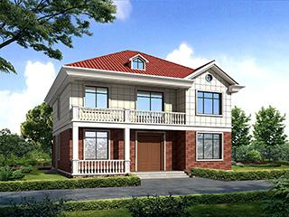 二层别墅欧式自建房施工效果图纸全套  造价25万BZ272-简欧风格