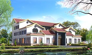 豪华中式四合院别墅设计图及效果图纸全套
