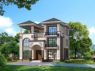 农村新中式三层带露台小别墅设计图纸及效果图