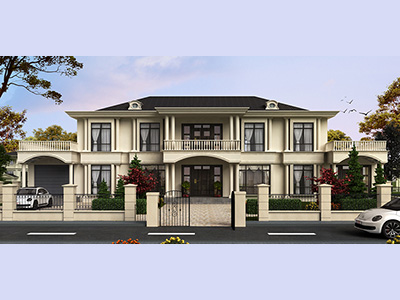 乡村二层房屋设计图纸及效果图大全