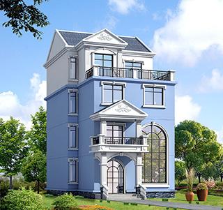 农村房屋四层别墅设计图纸 占地面积:124平方米