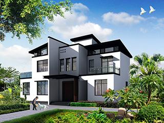 新中式二层别墅设计施工图,占地120平米左右