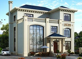 漂亮的乡村三房屋设计图14X12BZ325-简欧风格