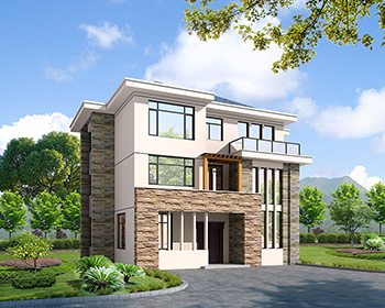 全套农村三层现代风格别墅设计图纸 造价30万