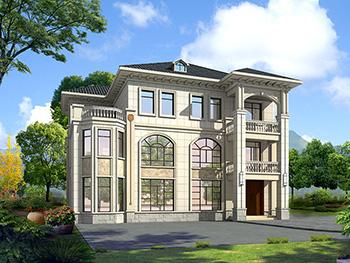 2019新农村欧式别墅设计图,三层自建房大气漂亮别墅