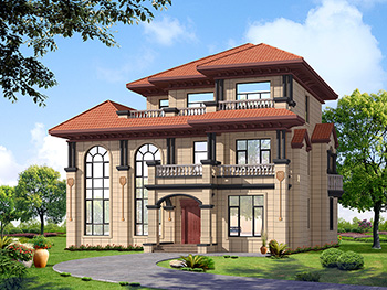 别墅设计图纸三层全套自建房复式带柴火房施工图
