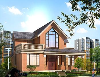 农村带阁楼一层半小别墅设计图