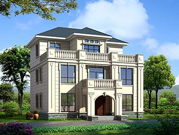最新款欧式风格三层别墅图纸大全 造价30万