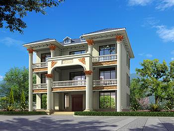 新农村私人三层别墅建筑设计施工图,全套别墅设计图纸
