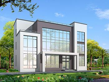 三层现代风格复式豪华别墅图纸BZ370-现代风格