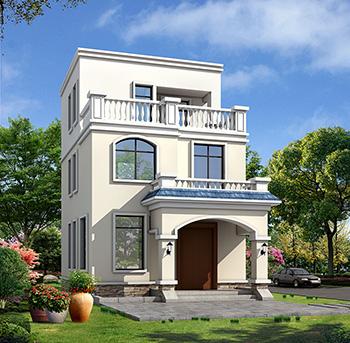 欧式三层楼房设计图,三层新农村楼房图纸
