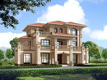 三层欧式豪华别墅设计方案,全套图纸+效果图