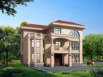 农村三层楼房设计图及效果图,复式框架结构BZ378-简欧风格