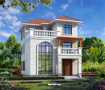 三层漂亮的小别墅图_农村三层框架结构房屋设计图纸
