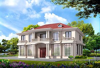 两层简欧带阁楼农村别墅设计图纸BZ283-简欧风格