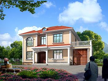 独栋别墅设计图带车库 造价25万