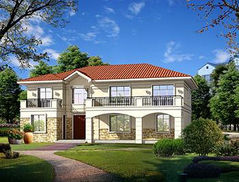 二层欧式小别墅设计方案,全套建筑设计图纸+外观效果图