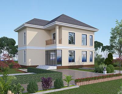 新农村二层带露台自建房小别墅图纸